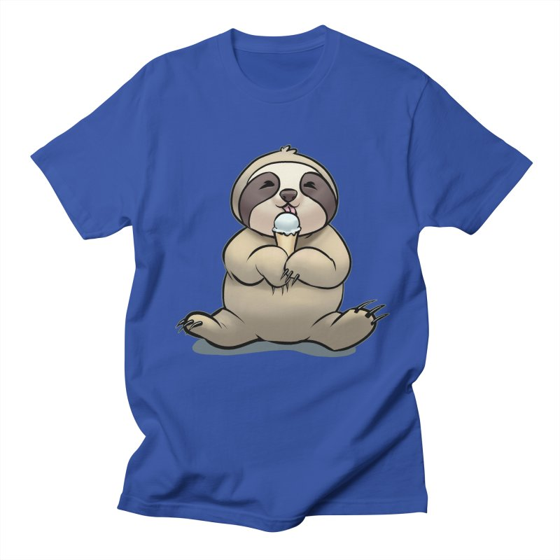 Sloth with Ice Cream Women's Regular Unisex T-Shirt by weswongwithyou's Artist Shop