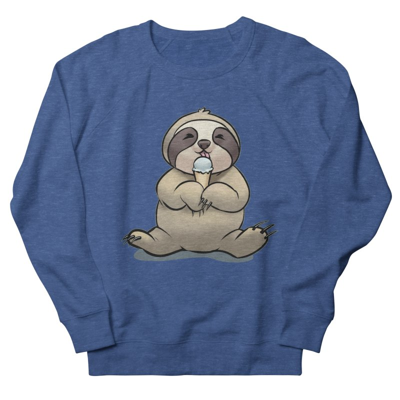 Sloth with Ice Cream Men's Sweatshirt by weswongwithyou's Artist Shop
