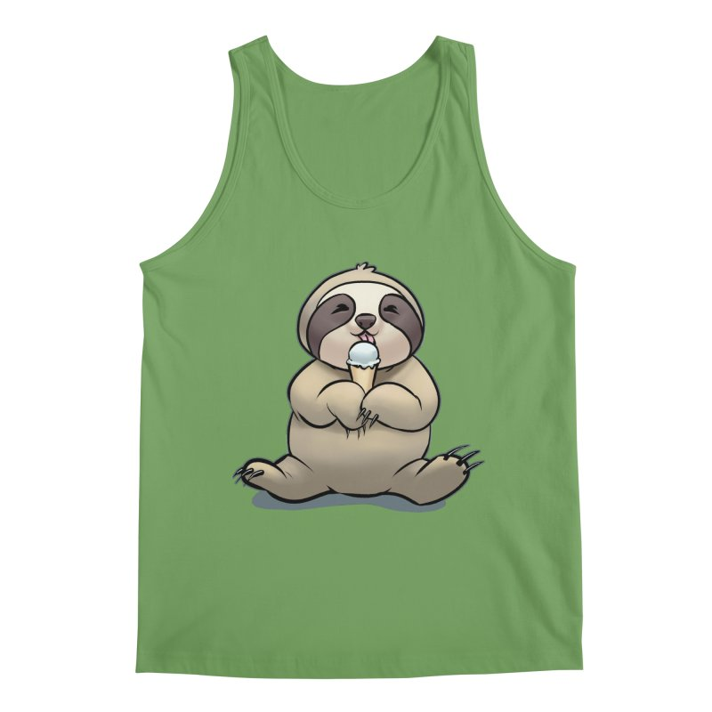 Sloth with Ice Cream Men's Tank by weswongwithyou's Artist Shop