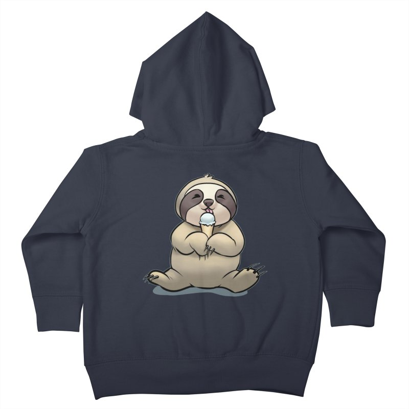 Sloth with Ice Cream Kids Toddler Zip-Up Hoody by weswongwithyou's Artist Shop