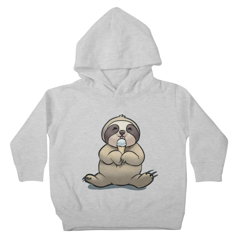 Sloth with Ice Cream Kids Toddler Pullover Hoody by weswongwithyou's Artist Shop
