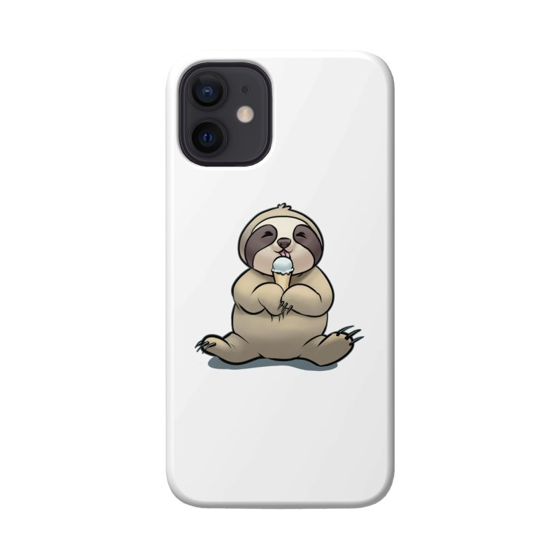 Sloth with Ice Cream Accessories Phone Case by weswongwithyou's Artist Shop