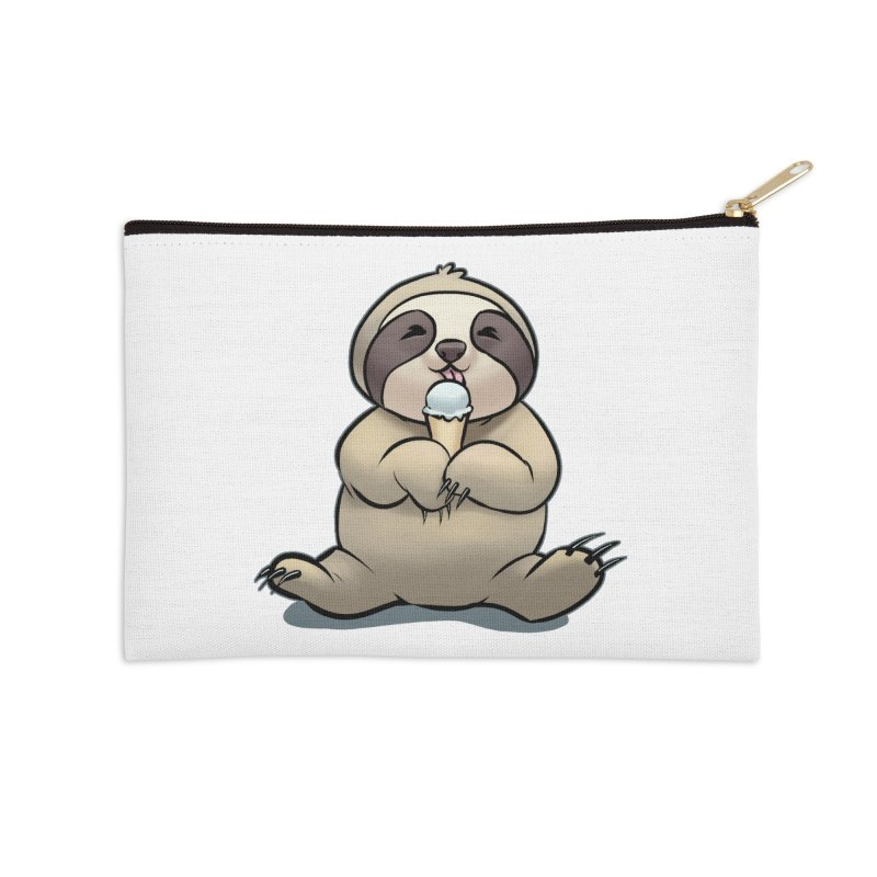 Sloth with Ice Cream Accessories Zip Pouch by weswongwithyou's Artist Shop