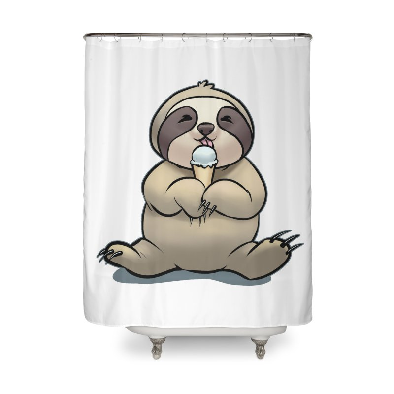 Sloth with Ice Cream Home Shower Curtain by weswongwithyou's Artist Shop