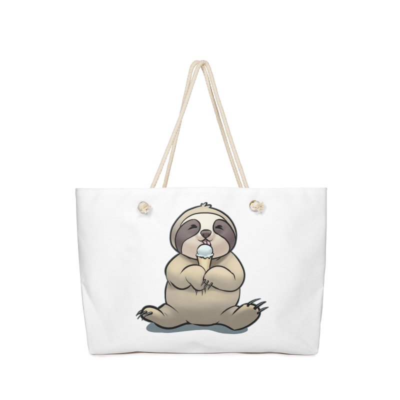 Sloth with Ice Cream Accessories Bag by weswongwithyou's Artist Shop