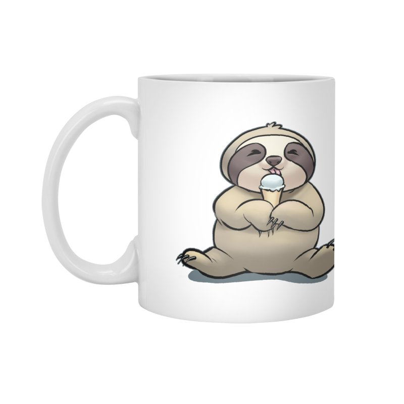 Sloth with Ice Cream Accessories Mug by weswongwithyou's Artist Shop