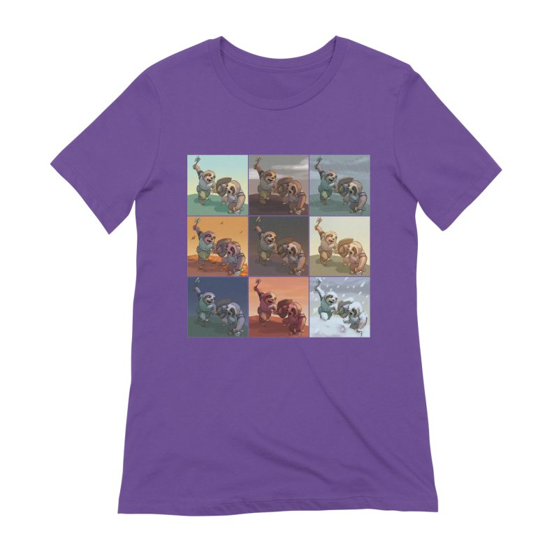 Sloth Battle Women's Extra Soft T-Shirt by weswongwithyou's Artist Shop