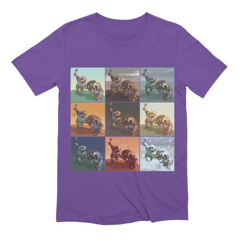 Sloth Battle Men's Extra Soft T-Shirt by weswongwithyou's Artist Shop