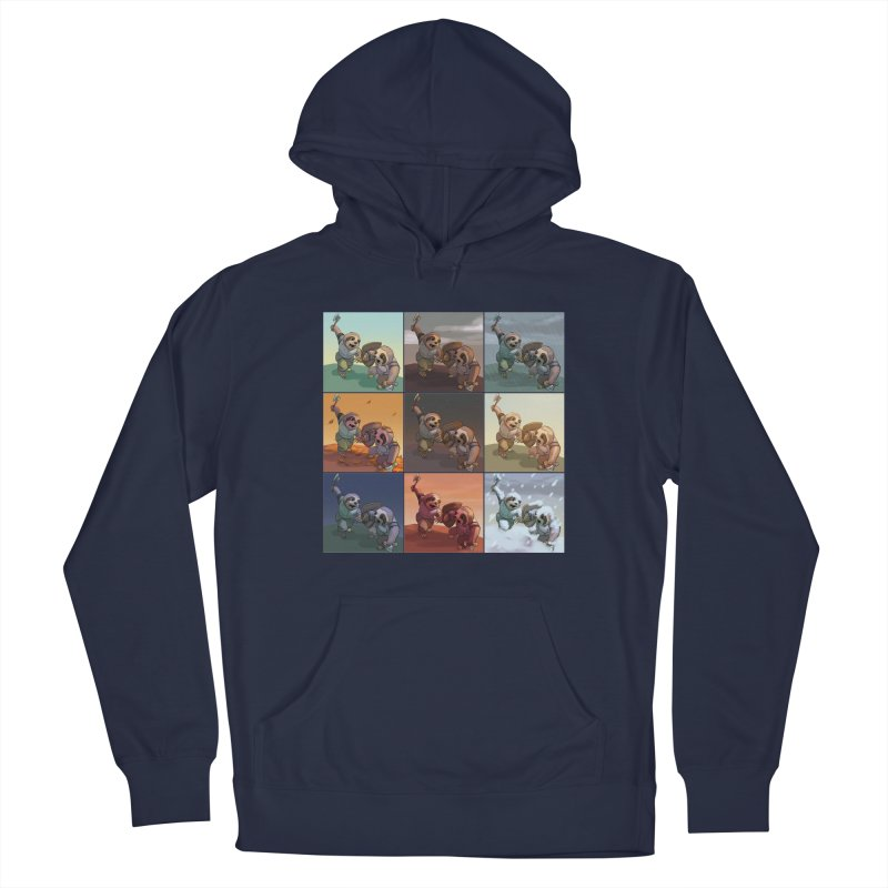 Sloth Battle Men's Pullover Hoody by weswongwithyou's Artist Shop