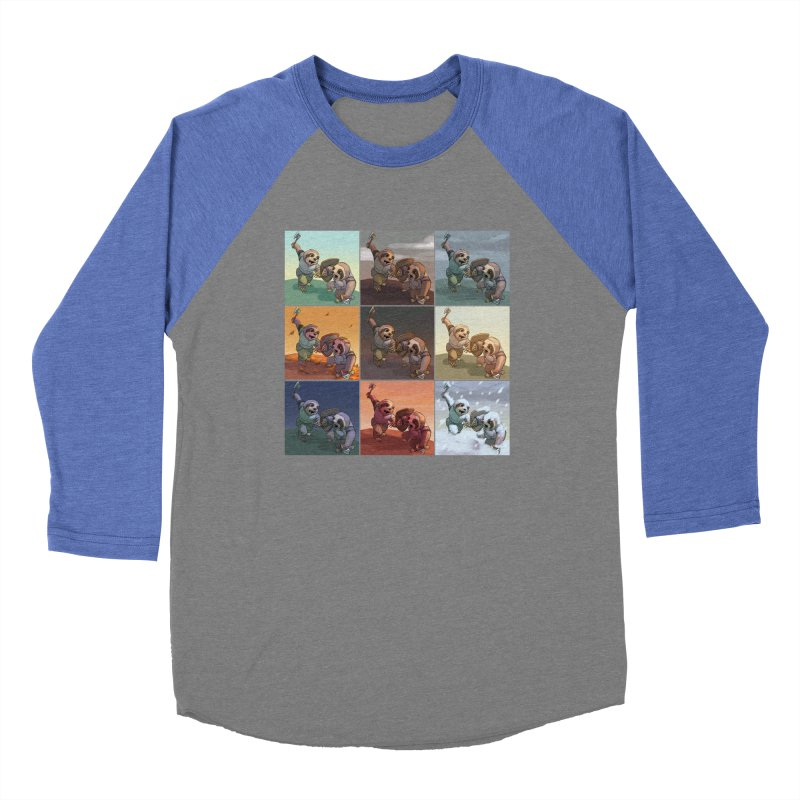 Sloth Battle Men's Baseball Triblend Longsleeve T-Shirt by weswongwithyou's Artist Shop