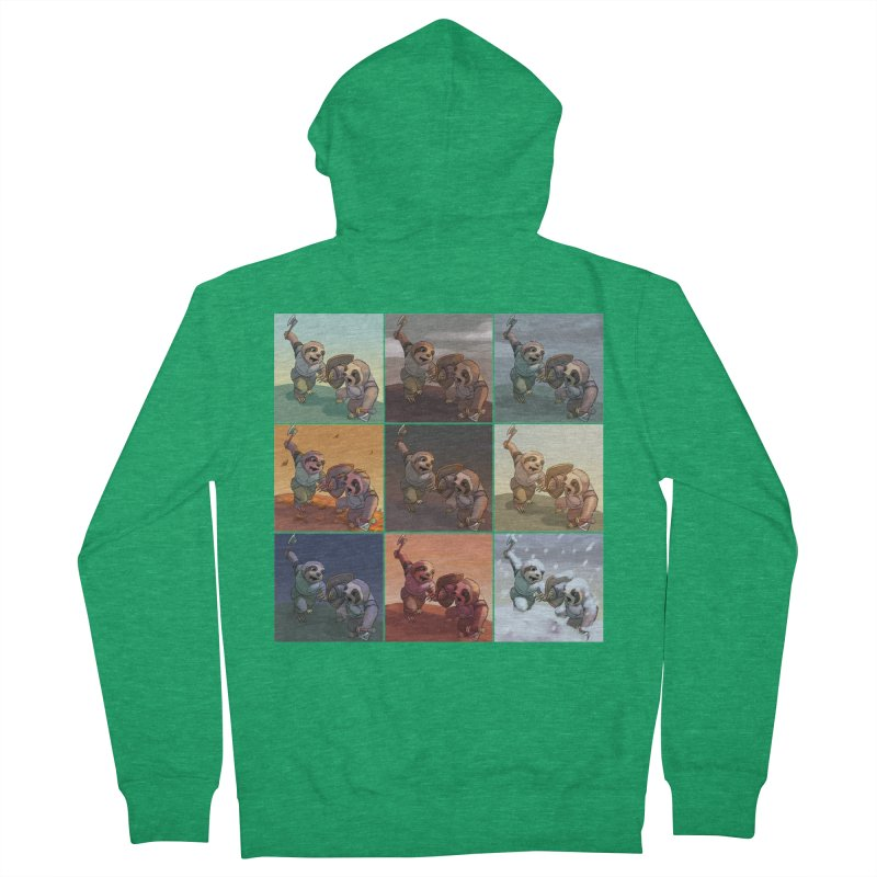 Sloth Battle Women's Zip-Up Hoody by weswongwithyou's Artist Shop