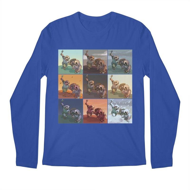 Sloth Battle Men's Longsleeve T-Shirt by weswongwithyou's Artist Shop