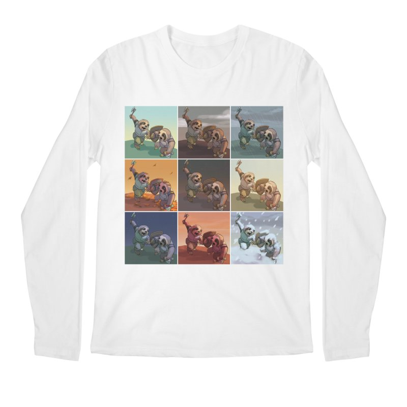 Sloth Battle Men's Longsleeve T-Shirt by weswongwithyou's Artist Shop