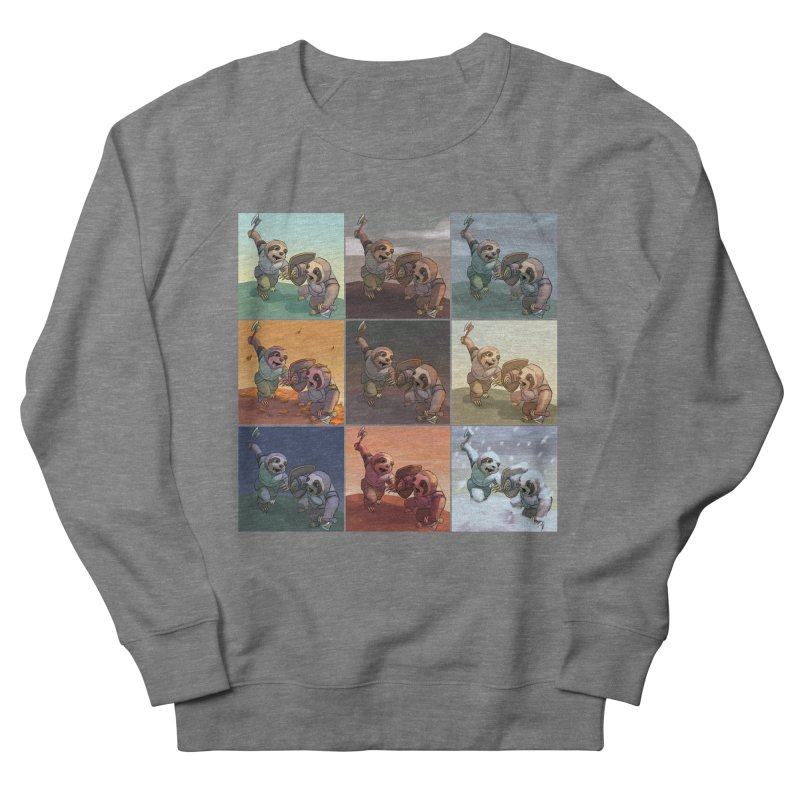 Sloth Battle Men's Sweatshirt by weswongwithyou's Artist Shop