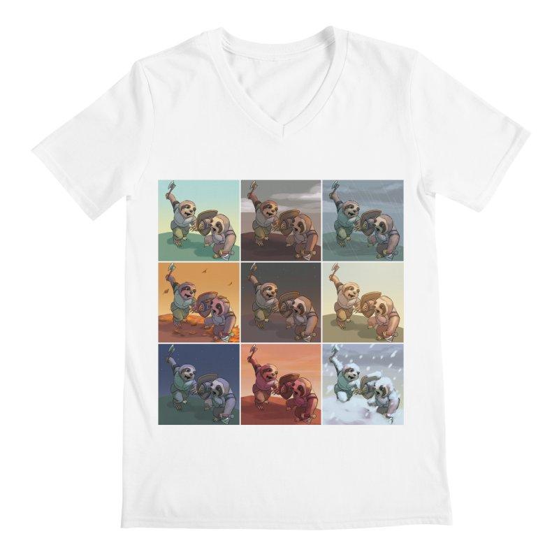 Sloth Battle Men's V-Neck by weswongwithyou's Artist Shop