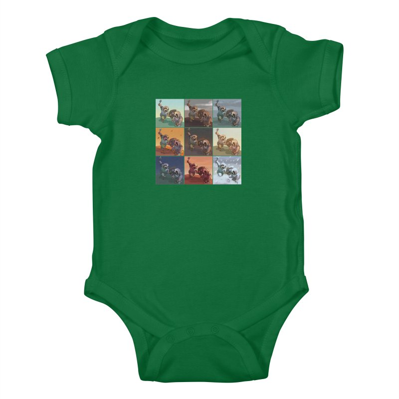 Sloth Battle Kids Baby Bodysuit by weswongwithyou's Artist Shop