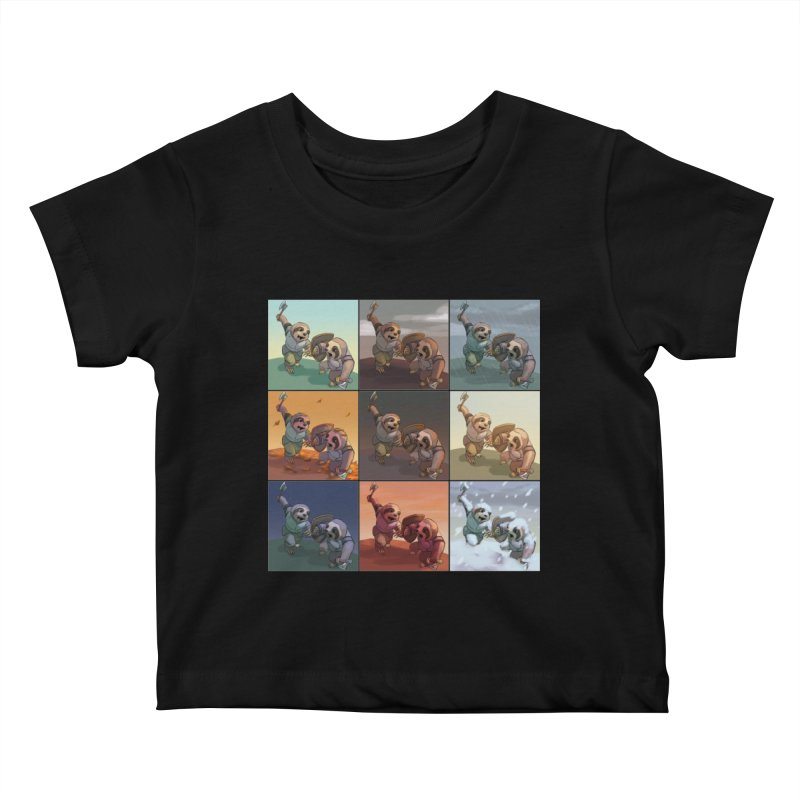 Sloth Battle Kids Baby T-Shirt by weswongwithyou's Artist Shop