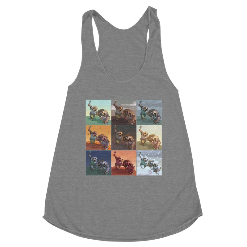 Sloth Battle Women's Tank by weswongwithyou's Artist Shop