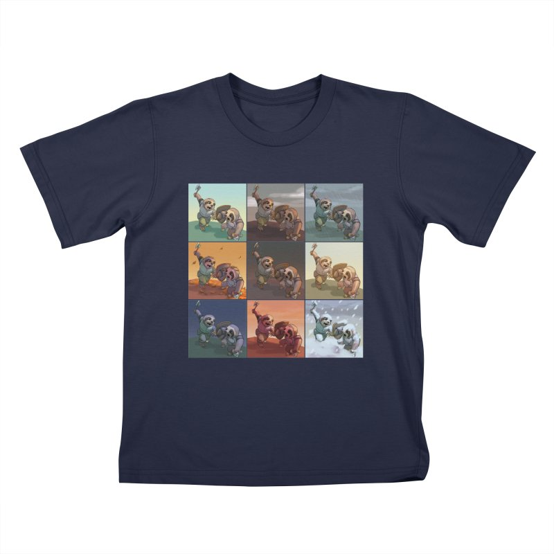Sloth Battle Kids T-Shirt by weswongwithyou's Artist Shop