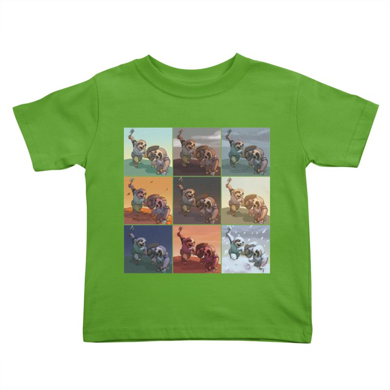 Sloth Battle Kids Toddler T-Shirt by weswongwithyou's Artist Shop