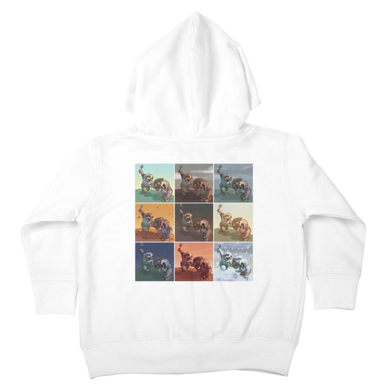 Sloth Battle Kids Toddler Zip-Up Hoody by weswongwithyou's Artist Shop