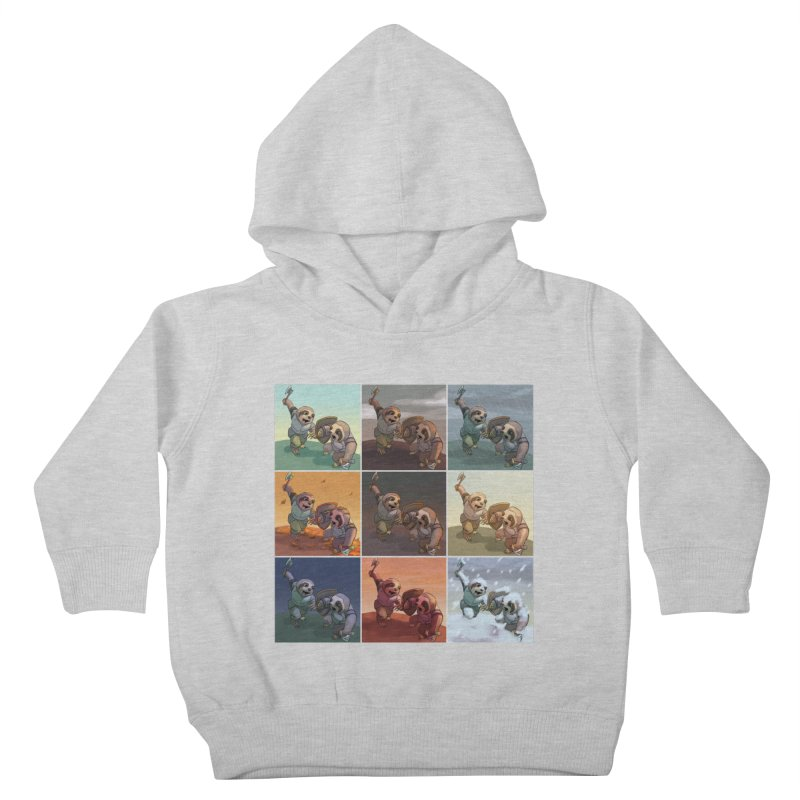 Sloth Battle Kids Toddler Pullover Hoody by weswongwithyou's Artist Shop