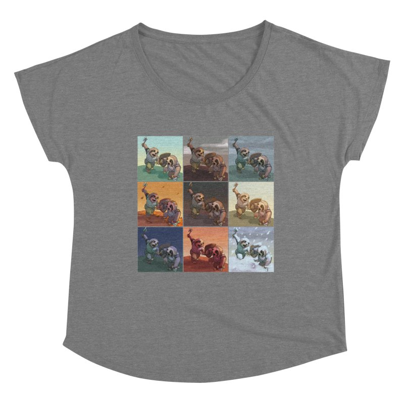 Sloth Battle Women's Scoop Neck by weswongwithyou's Artist Shop