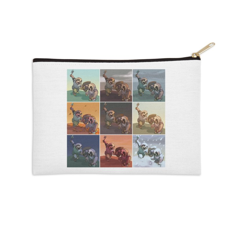 Sloth Battle Accessories Zip Pouch by weswongwithyou's Artist Shop