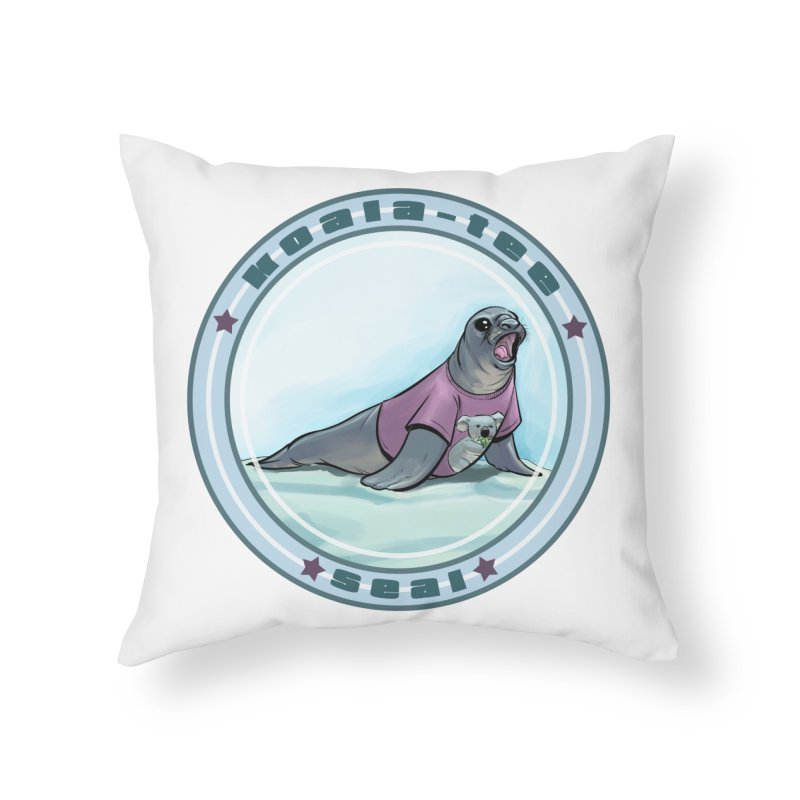 Koala-Tee Seal Home Throw Pillow by weswongwithyou's Artist Shop