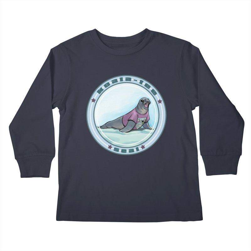 Koala-Tee Seal Kids Longsleeve T-Shirt by weswongwithyou's Artist Shop