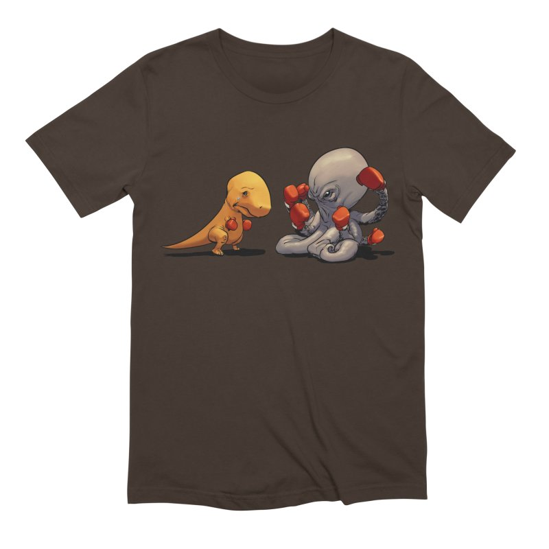 T-Rex vs Octopus Men's Extra Soft T-Shirt by weswongwithyou's Artist Shop