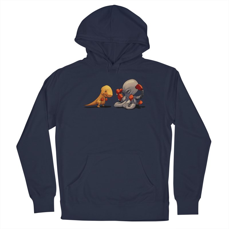 T-Rex vs Octopus Men's Pullover Hoody by weswongwithyou's Artist Shop