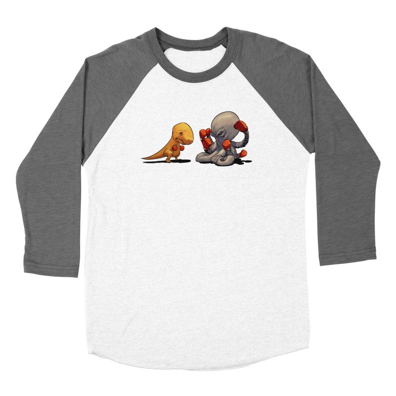 T-Rex vs Octopus Women's Longsleeve T-Shirt by weswongwithyou's Artist Shop