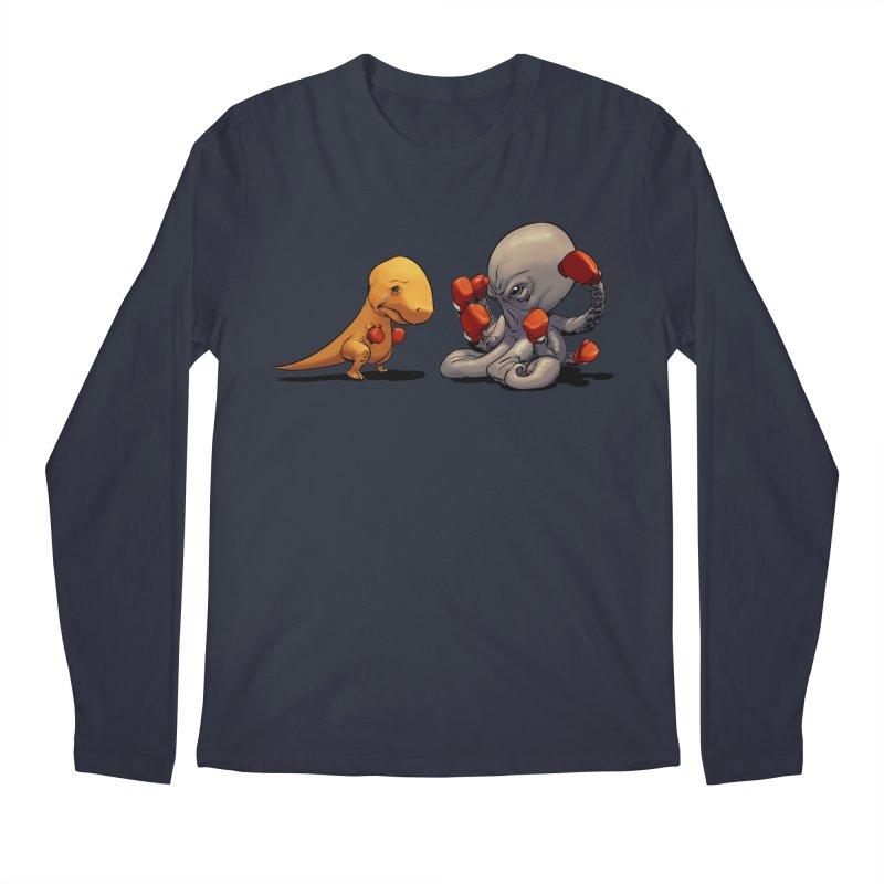 T-Rex vs Octopus Men's Regular Longsleeve T-Shirt by weswongwithyou's Artist Shop