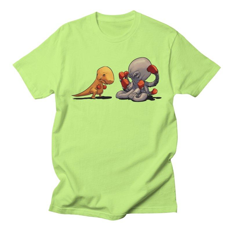 T-Rex vs Octopus Men's T-Shirt by weswongwithyou's Artist Shop