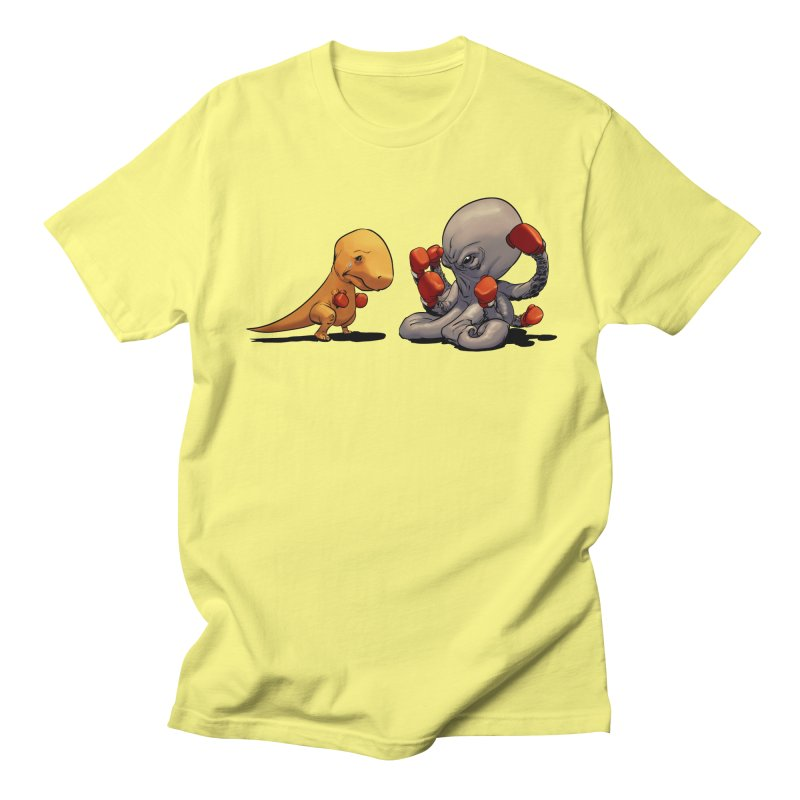 T-Rex vs Octopus Men's T-Shirt by weswongwithyou's Artist Shop