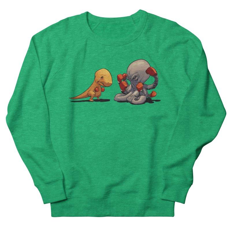 T-Rex vs Octopus Women's Sweatshirt by weswongwithyou's Artist Shop