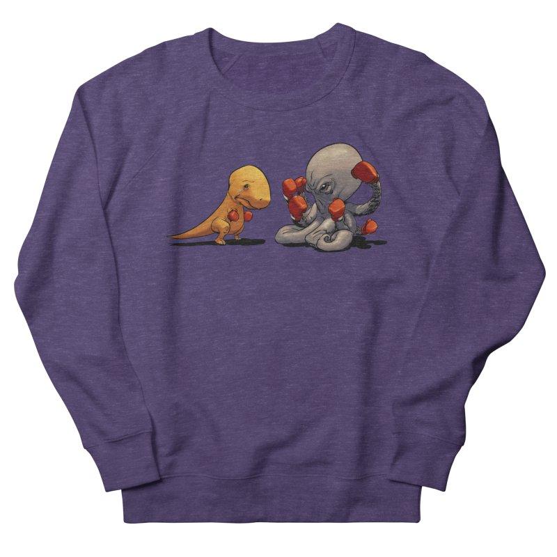 T-Rex vs Octopus Men's Sweatshirt by weswongwithyou's Artist Shop