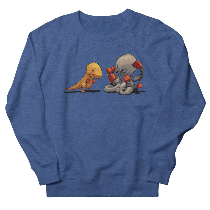 T-Rex vs Octopus Men's Sweatshirt by weswongwithyou's Artist Shop