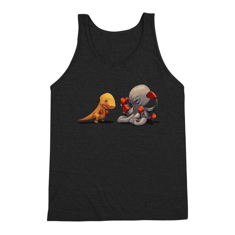T-Rex vs Octopus Men's Tank by weswongwithyou's Artist Shop