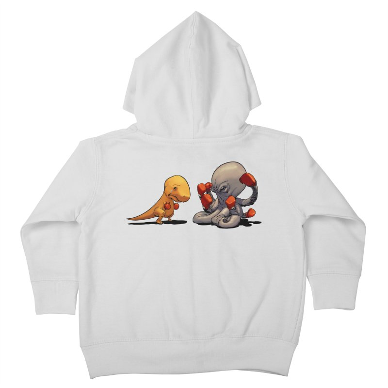 T-Rex vs Octopus Kids Toddler Zip-Up Hoody by weswongwithyou's Artist Shop