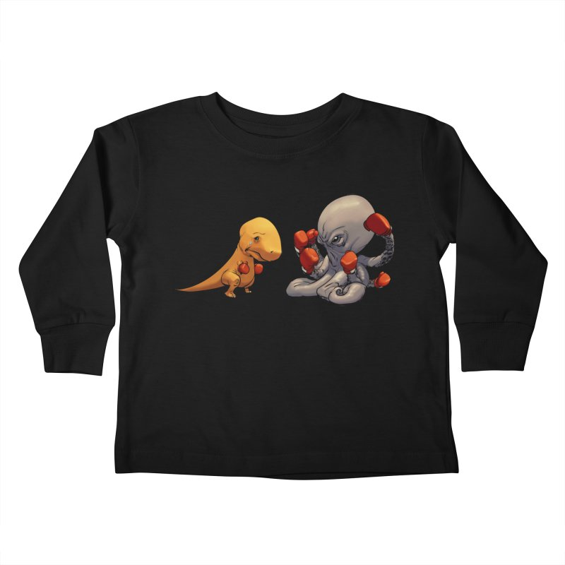 T-Rex vs Octopus Kids Toddler Longsleeve T-Shirt by weswongwithyou's Artist Shop