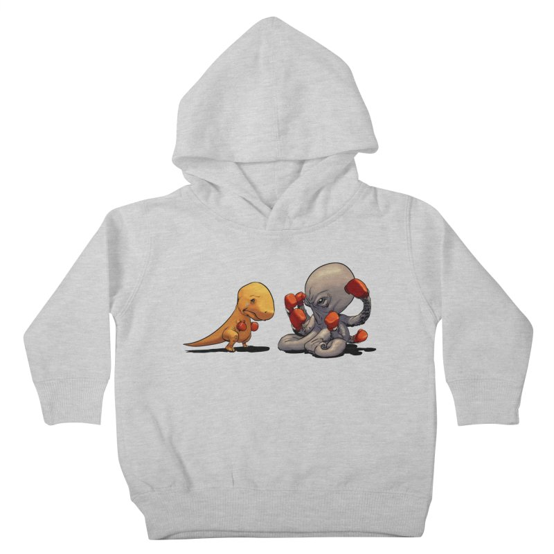 T-Rex vs Octopus Kids Toddler Pullover Hoody by weswongwithyou's Artist Shop