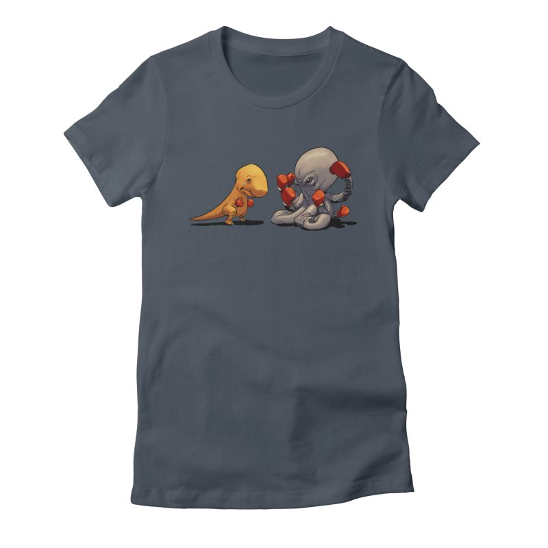 T-Rex vs Octopus Women's T-Shirt by weswongwithyou's Artist Shop