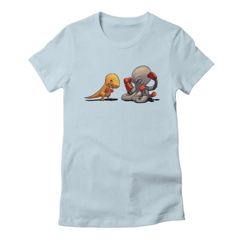 T-Rex vs Octopus Women's T-Shirt by weswongwithyou's Artist Shop