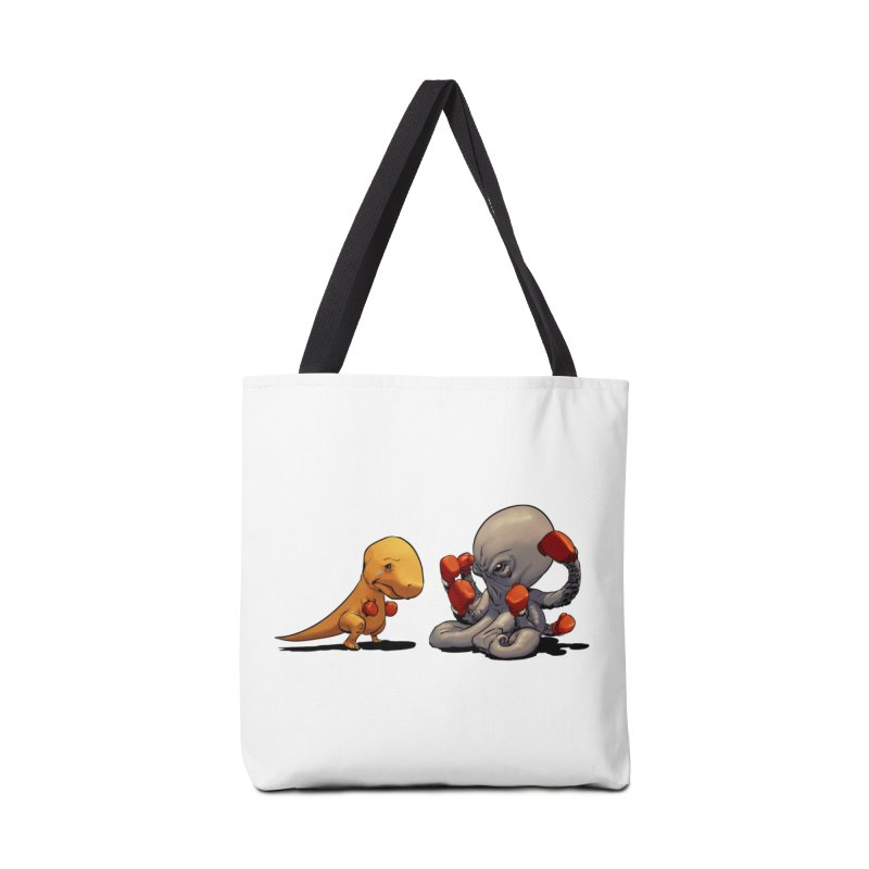 T-Rex vs Octopus Accessories Bag by weswongwithyou's Artist Shop