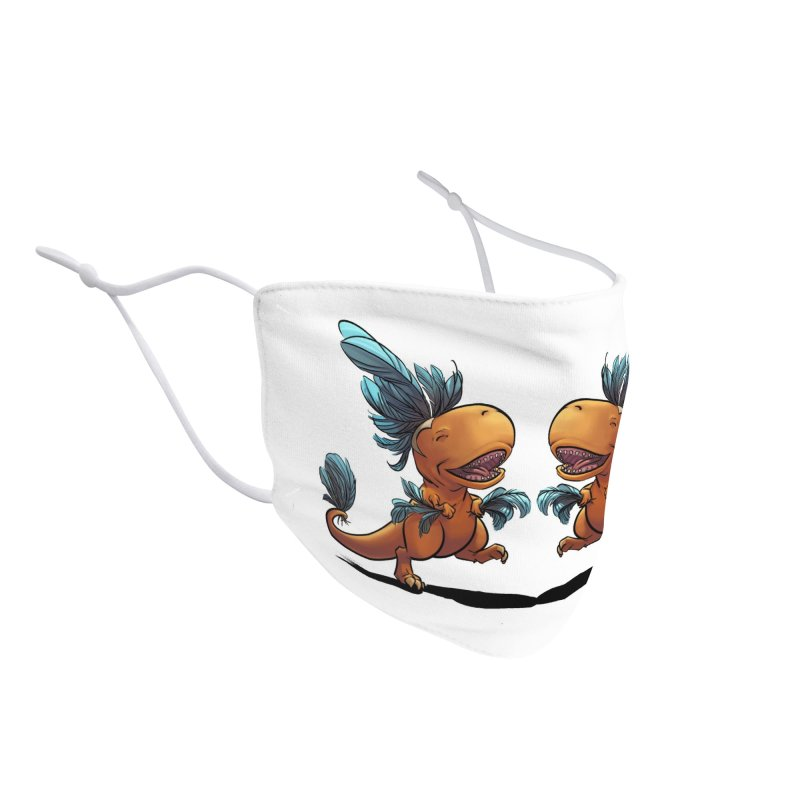 T-rex with feathers! Accessories Face Mask by weswongwithyou's Artist Shop