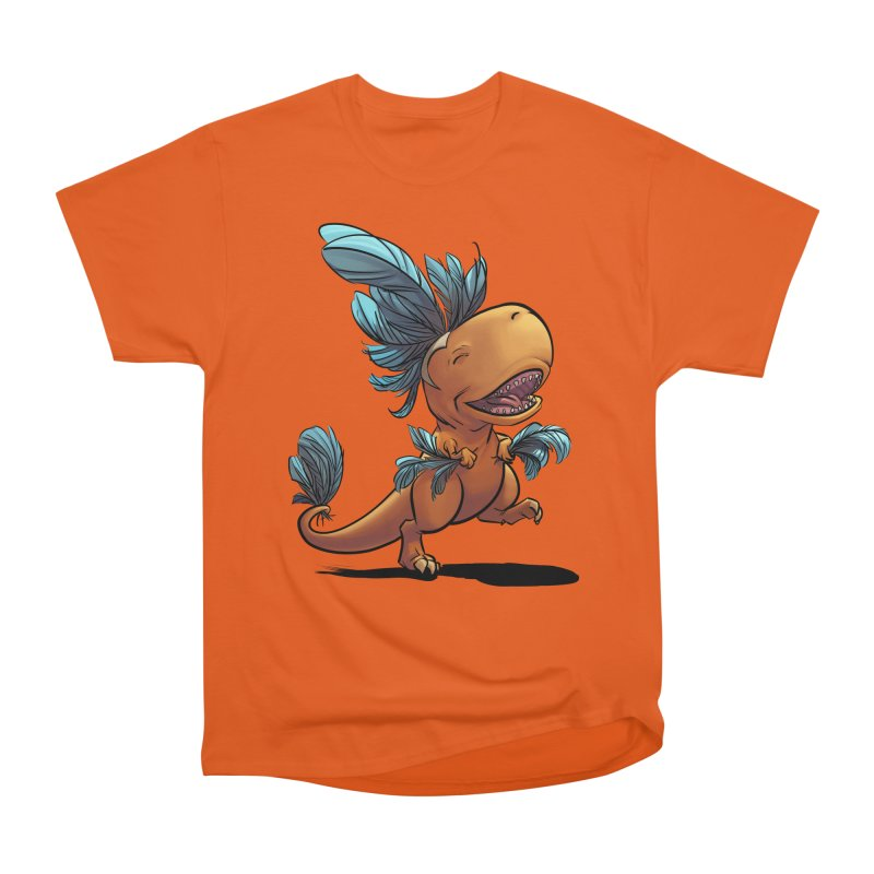 T-rex with feathers! Women's Heavyweight Unisex T-Shirt by weswongwithyou's Artist Shop