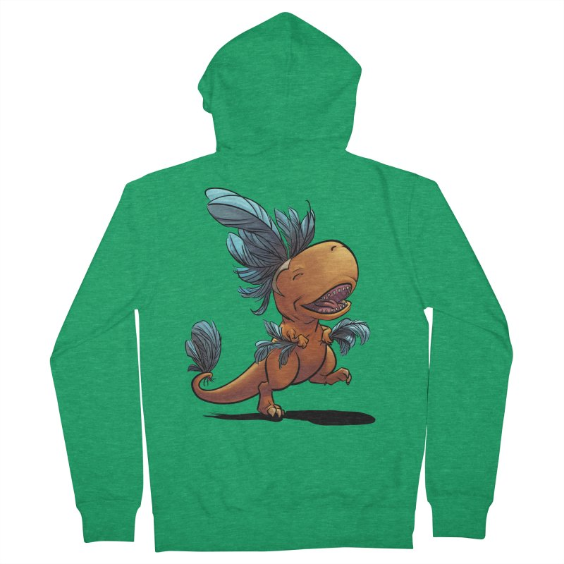T-rex with feathers! Men's Zip-Up Hoody by weswongwithyou's Artist Shop
