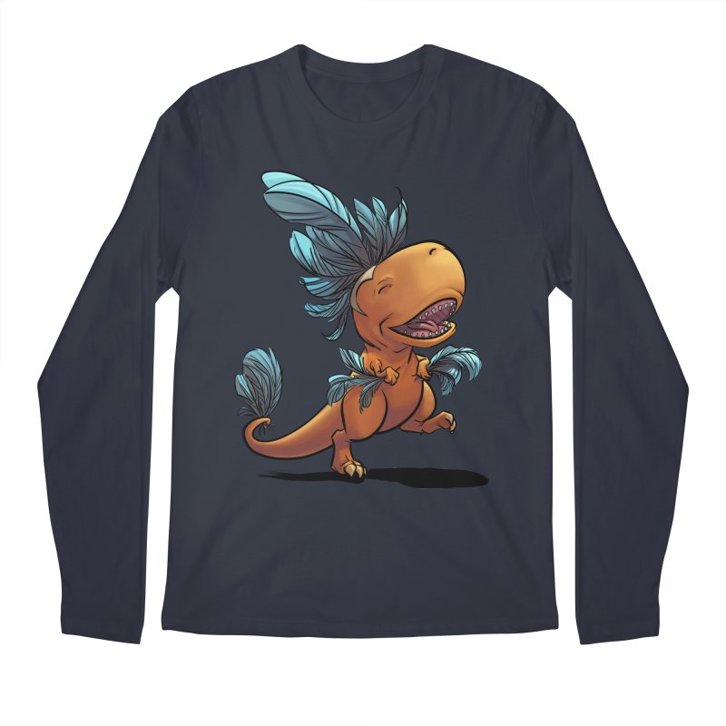 T-rex with feathers! Men's Regular Longsleeve T-Shirt by weswongwithyou's Artist Shop